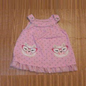 Nanette Baby corduroy kitty dress 3-6M